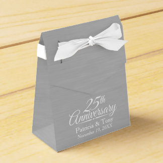 25. Hochzeits-Jahrestag personalisiert Geschenkschachtel