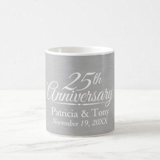 25. Hochzeits-Jahrestag personalisiert Tasse