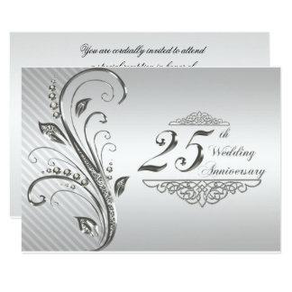 25. Hochzeits-Jahrestag UAWG 8,9 X 12,7 Cm Einladungskarte