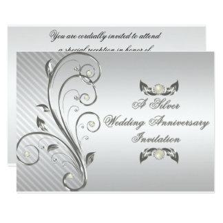 25. Hochzeitstag-Einladung 12,7 X 17,8 Cm Einladungskarte