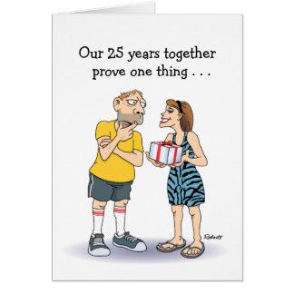25. Hochzeitstag-Karte: Liebe Karte