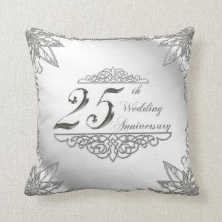 25. Hochzeitstag-Wurfs-Kissen Kissen