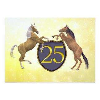 25 Jahre alte Geburtstags-Party, die Pferde 12,7 X 17,8 Cm Einladungskarte