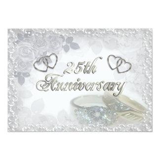 25. Jahrestag schellt Einladung