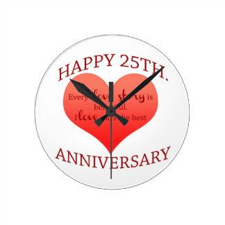 25. Jahrestag Wanduhr