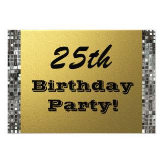 25 jedes mögliches Alters-Geburtstags-Party-Gold Ankündigung