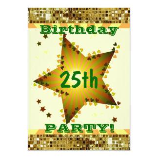 25. Oder irgendeine Alters-Geburtstags-Party 12,7 X 17,8 Cm Einladungskarte