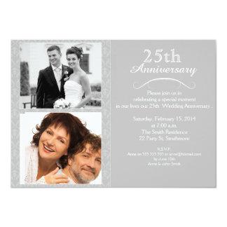 25. Silberne Hochzeitstag-Einladung 11,4 X 15,9 Cm Einladungskarte