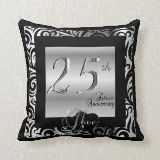 25. Silberner Hochzeitstag Kissen