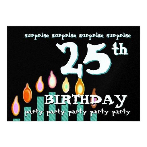 25. ÜBERRASCHUNG Geburtstags-Party Ankündigungskarten
