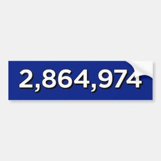 2.864.974 AUTOAUFKLEBER