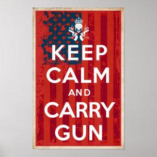 2. Änderungs-Rechte behalten Ruhe und tragen Poster