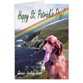 2. Fantastischer Küsten-St Patrick Irlands Grußkarte