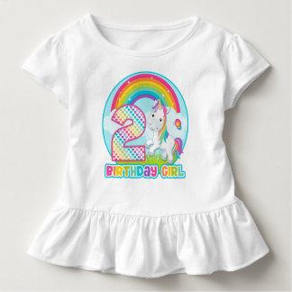 2. Geburtstags-Regenbogen-Einhorn - Kleinkinder T-shirt