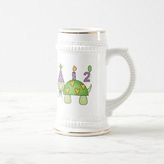 2. Geburtstags-Schildkröte Bierglas