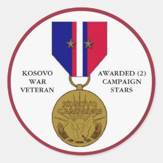 2 KAMPAGNEN-STERN-KOSOVO-KRIEGSVETERAN RUNDER STICKER