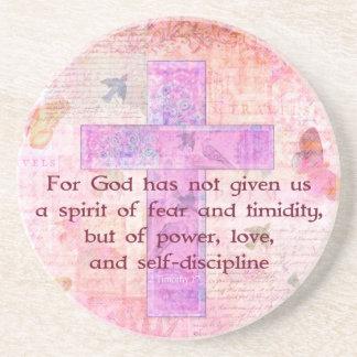 2 Timothy biblische Zitat-Schrift des 1:7 Untersetzer