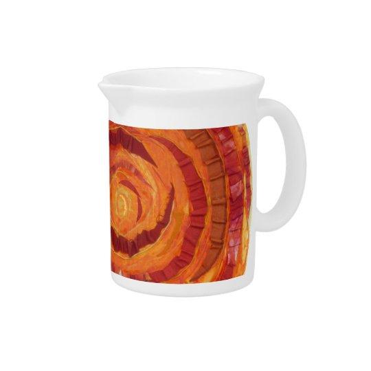 2nd-Sacral Chakra - orange Farbe-Gewebe #2 Getränke Pitcher