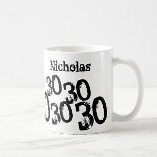 30. Geburtstag addieren personalisierte Tasse