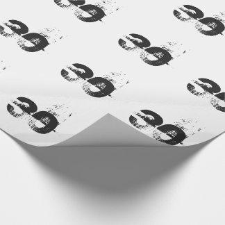 30. Geburtstag für jedermann, schwarz auf Weiß Geschenkpapier