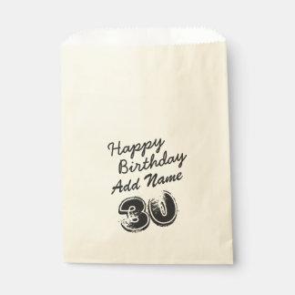 30. Geburtstag personalisiert Geschenktütchen