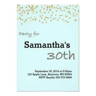30. Geburtstag personalisiert in den Pastellfarben 12,7 X 17,8 Cm Einladungskarte