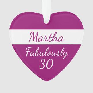 30. Geburtstag personifizieren Rosa fabelhaft 30 Ornament