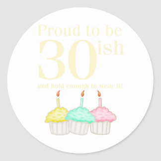30. Geburtstag Runder Aufkleber