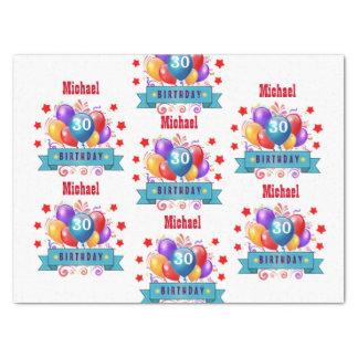 30. Geburtstags-festliche bunte Ballone C01BZ Seidenpapier