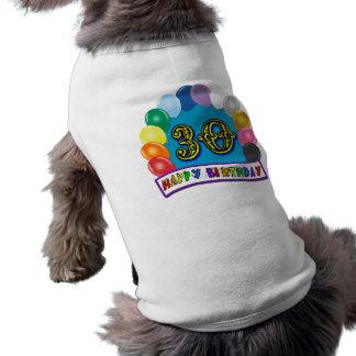 30. Geburtstags-Geschenke mit sortiertem Ärmelfreies Hunde-Shirt