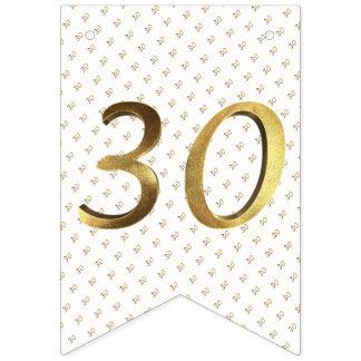 30. Geburtstags-Hochzeitstag-Goldzahl Wimpelketten