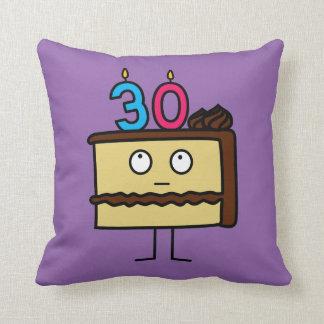 30. Geburtstags-Kuchen mit Kerzen Kissen