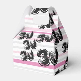30. Geburtstags-rosa Gastgeschenk-Kästen Geschenkschachtel