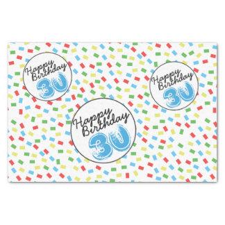 30. Geburtstags-Seidenpapier-festliches buntes Seidenpapier