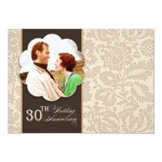 30. Hochzeitsjahrestags-Fotoeinladungen 12,7 X 17,8 Cm Einladungskarte