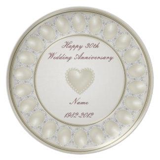 30. Hochzeitstag-Melamin-Platte Flache Teller