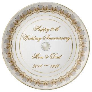 30. Hochzeitstag-Porzellan-Platte Porzellanteller