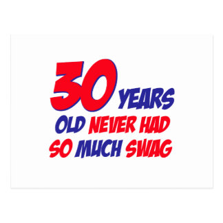 30 Jahre alte Geburtstagsentwurf Postkarte
