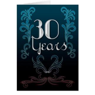 30 Jahre (Jahrestag) Grußkarte