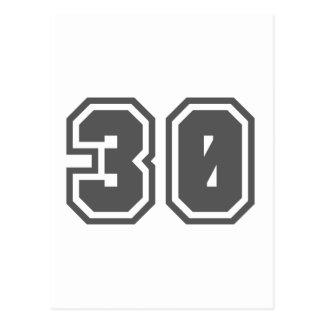 30 POSTKARTE