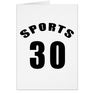 30 Sport-Geburtstags-Entwürfe Karte