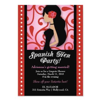 311 Spanisch-Henne-Party 12,7 X 17,8 Cm Einladungskarte