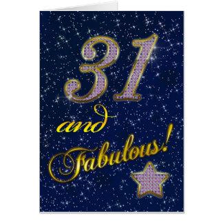 31. Geburtstag für jemand fabelhaft Grußkarte