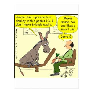 321 intelligenter a$$ Cartoon des Eselgenies Farb Postkarte