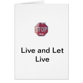 3300572_f260, Live- und gelassenes Live Mitteilungskarte