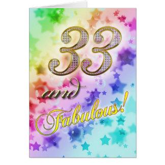 33. Geburtstags Party Einladung