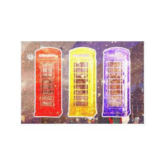3 Anrufe für London Leinwanddruck