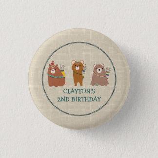 3 Bärn-Geburtstag Runder Button 2,5 Cm