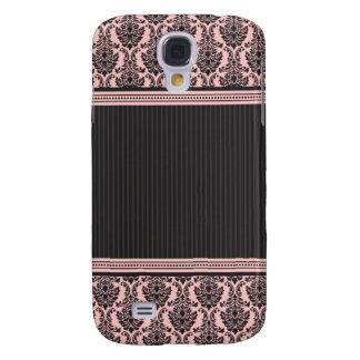 3 elegantes Damast-Rosa/Schwarzes Galaxy S4 Hülle