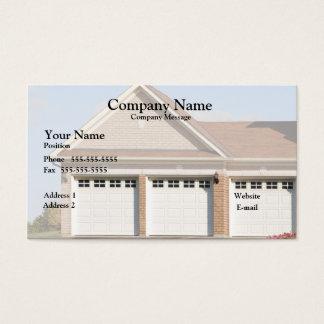 3 Garagen-Türen auf Haus Visitenkarten